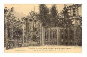 Les Grilles De l´Archeveche, Crucifix On Top Of Entrance, Sens (Yonne), Fran...