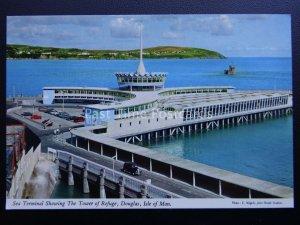 Isle of Man DOUGLAS Sea Terminal c1970's Postcard by John Hinde 310M3