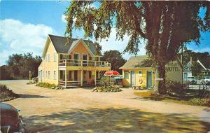 Hyannis MA Cape Cod Sail Loft Motel Old Cars Postcard