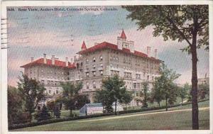Colorado Colorado Springs Rear View Anthers Hotel 1925