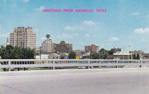 Skyline view of downtown Amarillo, Texas,  40-60s