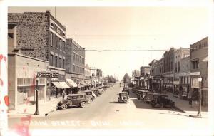 Buhl Idaho~Main Street~Golden Rule Department Store~MH King~Cars~1930s RPPC
