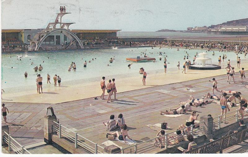 Post Card Somerset WESTON-SUPER-MARE Swimming Pool