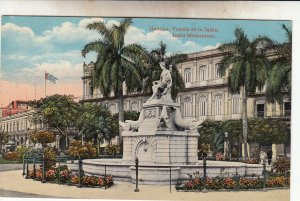 P1924  old postcard cuba advertizing mr. rodrigues, havana india monument unused