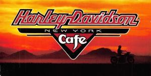 Harley Davidson Cafe, New York Folded Card Postcard T84
