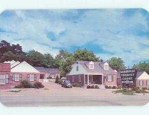 Unused 1950's OLD CARS & NASHVILLE TOURIST COURT MOTEL Nashville TN s5693-12