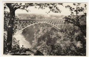 Zambia; Bridge & Falls Zambesi River No 101 RP PPC, By Salmon, Unused, c 1930's