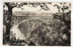 Zambia; Bridge & Falls Zambesi River No 101 RP PPC, By Salmon, Unused, c 1930's
