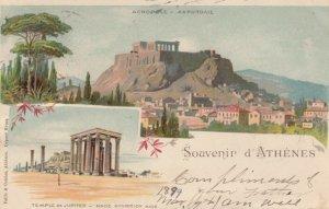 Souvenir d'ATHENES, Greece, 1899; Acropole & Temple De Jupiter