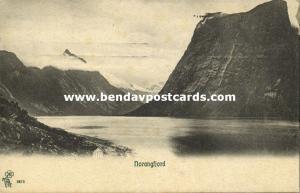 norway norge, SUNNMØRE, Norangsfjorden (1913) Stamp