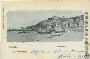 CARTOLINA d'Epoca:  ANCONA citta': 1899