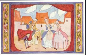 artist signed RIE CRAMER, Old Children's Songs (1930s) (2)