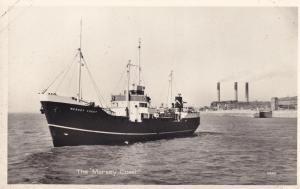 MV Mersey Coast Ship Real Photo Vintage Postcard