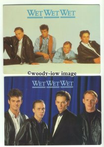 su2391 - Pop Group - Wet Wet Wet - 3 postcards all shown in item description