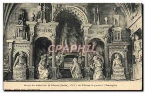 Postcard The Benedictine Abbey De Solesmes The Celebres Sculptures L & # 39As...
