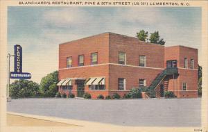 North Carolina Lumberton Blanchard's Restaurant