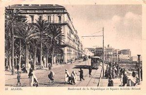 Boulevard de la Republique et Square Aristide Briand Alger Algeria 1943 Missi...