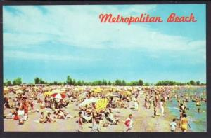 Metropolitan Beach Lake St Clair MI Postcard 4643