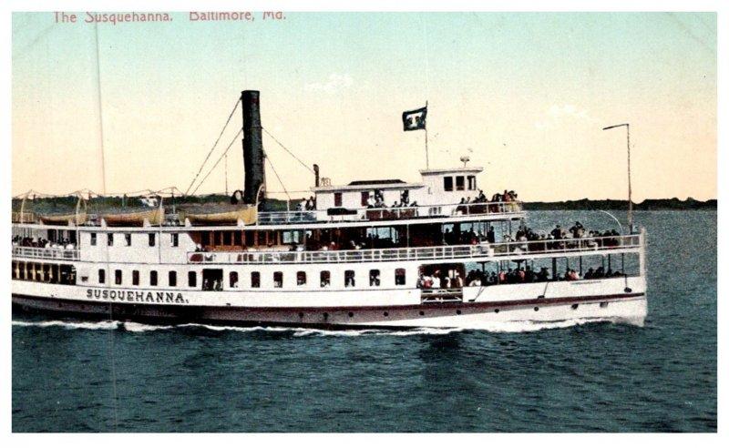 Maryland Baltimore , Steamer Susquehanna