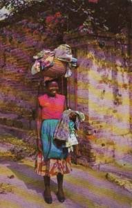 Jamaica Kingston Young Girl Selling Yard Goods 1966