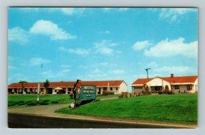 St Clairsville OH- Ohio, Rob Roy Motel, Advertising, Panoramic, Chrome Postcard