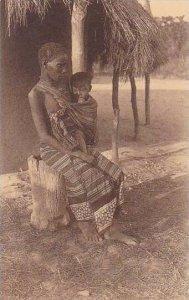 Belgian Congo Katanga Femme et enfant indigenes