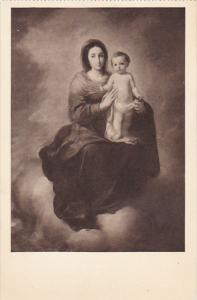 Netherlands Holy Virgin With Infant Jesus by B E Murillo Museum Mauritshuis D...