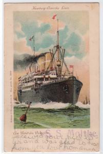 Hamburg-Amerika Linie, Um Bord des Dampfers, S.S. Moltke