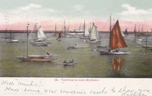 Michigan Yachting On Lake Michigan 1907