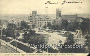 Dominion Square, Windsor Station Montreal Canada 1906