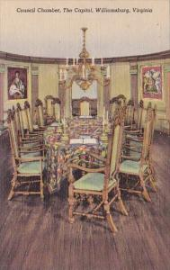 Council Chamber The Capitol Williamsburg Virginia