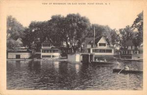 View of Residences Point Vivian East Shore NY Antique Postcard L312