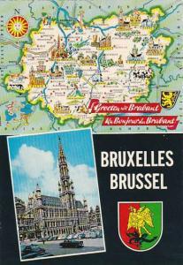 Map of Brussels Belgium
