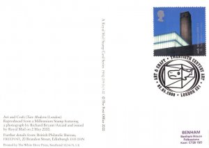 Tate Gallery London 2000 PHQ Limited Edition Stamp Postmark Postcard