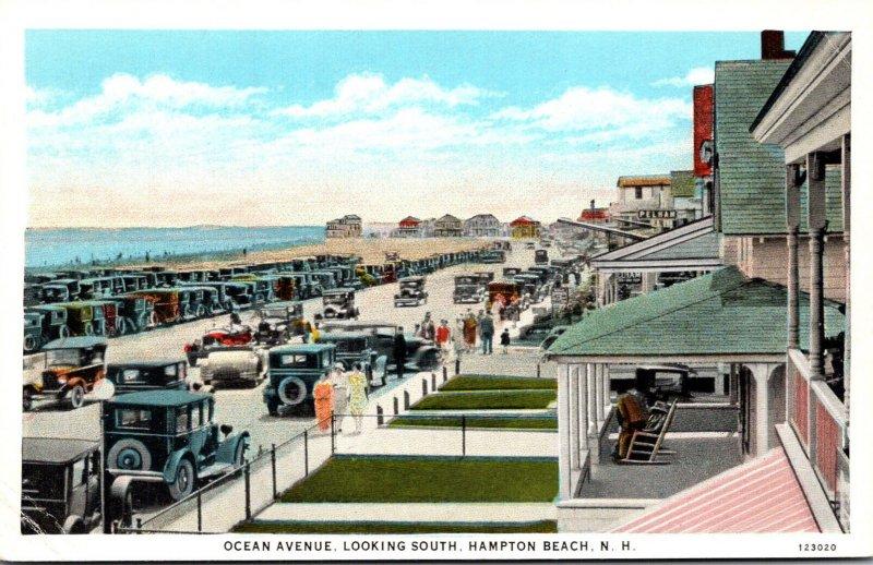 New Hampshire Hampton Beach Ocean Avenue Looking South Curteich