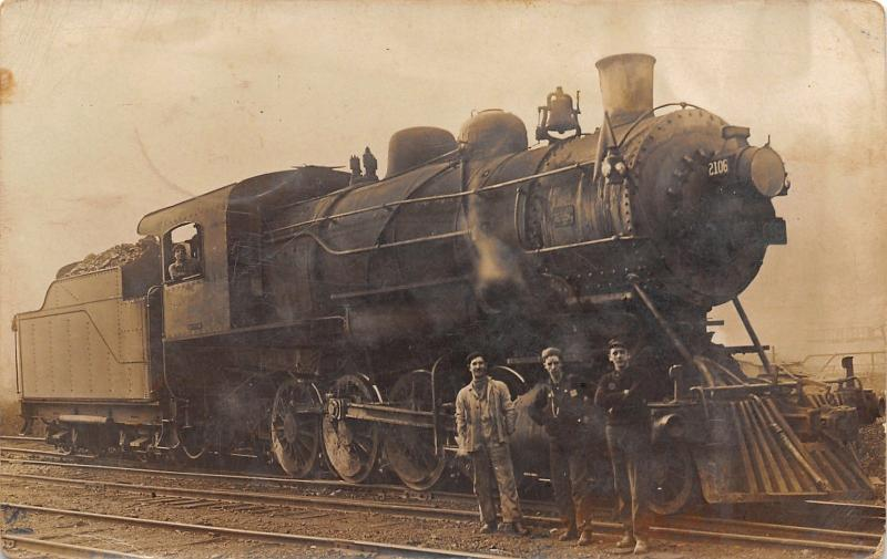 Dillionville OH~Simon Brewster~Kind of Engine I Fire~Locomotive 2106~1912 RPPC