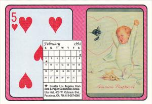 1992 Playing Card Calendar Series February