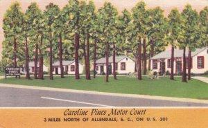South Carolina Allendale Caroline Pines Motor Court U S Highway 301 sk683