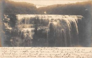 Portage New York Water Falls Real Photo Antique Postcard K84711