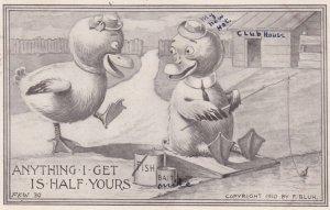 Ducks Fishing , 1910