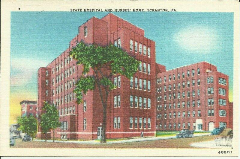 Scranton. Pa., State Hospital And Nurses' Home