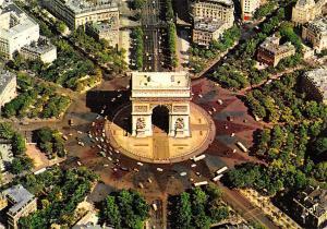 France Paris L'Arc de Triomphe Place Charles de Gaulle L'Etoile Voitures Cars