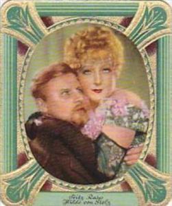Garbaty Cigarette Card 1934 Modern Beauties No 188 Fritz Rasp &  Hilde von...