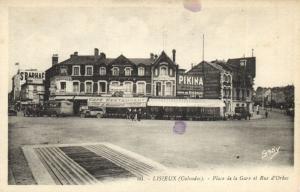 CPA LISIEUX - Place de la Gare et Rue d'ORBEC (140783)