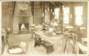 Centerville Cape Cod MA Cape Codder Interior Real Photo Postcard c1930
