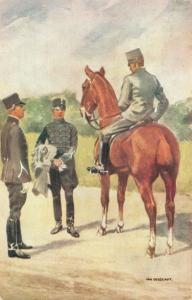 Military postcard Cavalerie Onderofficieren 02.14