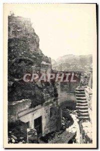 Old Postcard Baux La Porte d'Eyguieres Staircase Body Guard