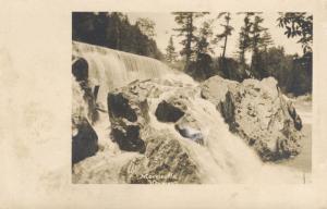 Morrisville Vermont VT Morristown ~ River Water Falls ~ Vintage RPPC Postcard