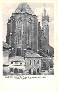 Poland Old Vintage Antique Post Card Krakow, Notre Dame Unused
