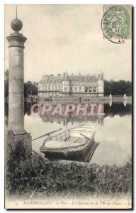 Old Postcard Rambouillet Chateau Park saw the daughter of Hens